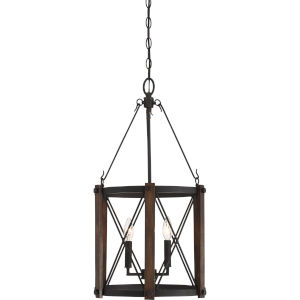 Baron Marcado Black 15.5-Inch Three-Light Pendant