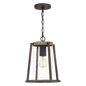 Brockton Rustic Black One-Light Outdoor Pendant
