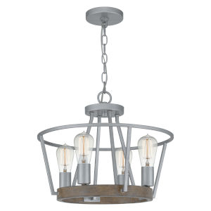Brockton Brushed Silver 18-Inch Four-Light Pendant