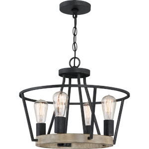 Brockton Grey Ash 18-Inch Four-Light Pendant