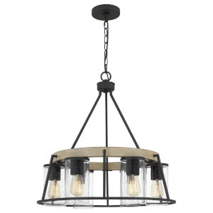 Brockton Gray Ash Six-Light Chandelier