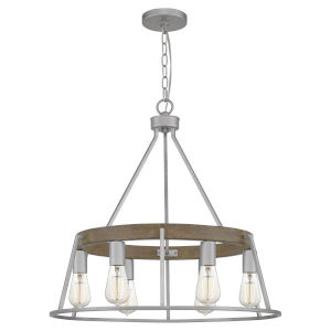 Brockton Brushed Silver 25-Inch Six-Light Chandelier