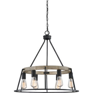 Brockton Grey Ash Six-Light Chandelier