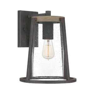 Brockton Rustic Black 11-Inch One-Light Outdoor Wall Mount