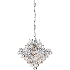 Bordeaux With Clear Crystal Polished Chrome Four-Light Pendant