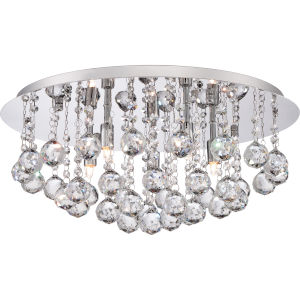 Bordeaux Polished Chrome Five Light Flush Mount