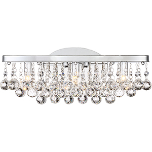 Bordeaux With Clear Crystal Polished Chrome 17-Inch LED Bath Vanity