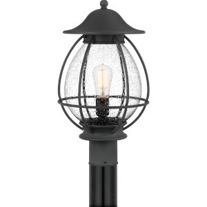 Boston Mottled Black One-Light Outdoor Post Mount