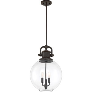 Britton Palladian Bronze Three-Light Pendant