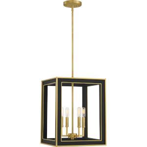 Burwell Matte Black Four-Light Pendant