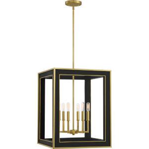Burwell Matte Black Six-Light Pendant