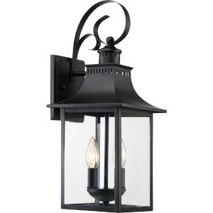Chancellor Mystic Black Two-Light Outdoor Wall Sconce