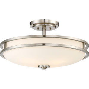 Cadet Brushed Nickel 19-Inch Four-Light Semi-Flush Mount