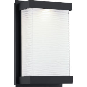 Celine Matte Black Six-Inch ADA LED Outdoor Wall Mount