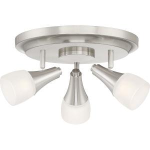 Crofton Brushed Nickel LED Semi Flush Mount