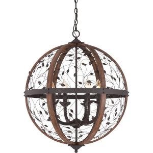Chamber Darkest Bronze Twenty-Four-Inch Pendant