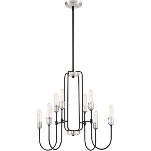 Channel Earth Black Eight-Light Chandelier