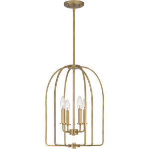 Cornell Weathered Brass Four-Light Pendant
