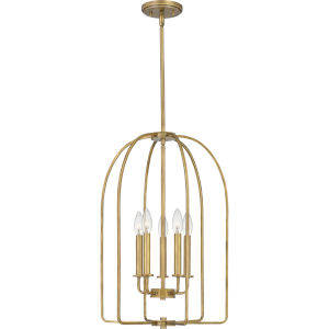 Cornell Weathered Brass Five-Light Pendant