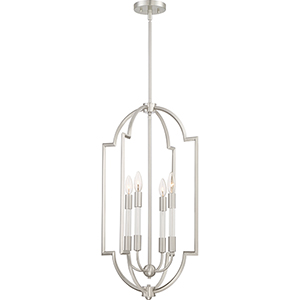 Chapel Brushed Nickel Four-Light Pendant