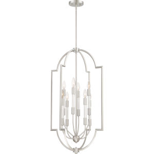 Chapel Brushed Nickel Eight-Light Pendant