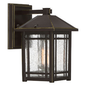 Cedar Point Palladian Bronze 10-Inch One-Light Outdoor Wall Sconce