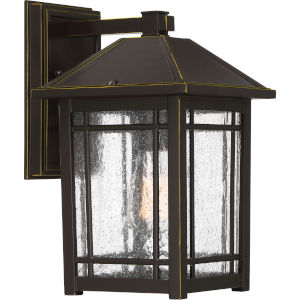 Cedar Point Palladian Bronze 13-Inch One-Light Outdoor Wall Sconce