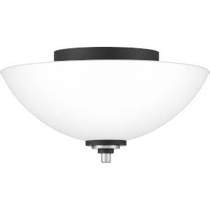 Conrad Brushed Nickel 13-Inch Two-Light Flush Mount