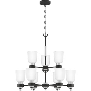 Conrad Brushed Nickel 27-Inch Nine-Light Chandelier