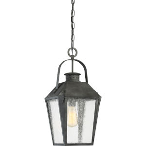 Carriage Mottled Black 10-Inch One-Light Outdoor Hanging Lantern