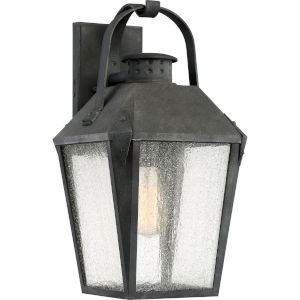 Carriage Mottled Black 10-Inch One-Light Outdoor Wall Lantern