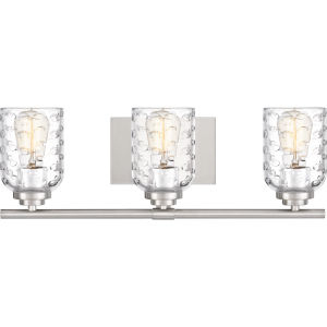 Cristal Brushed Nickel Three-Light Bath Vanity