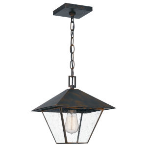 Corporal Industrial Bronze One-Light Outdoor Pendant