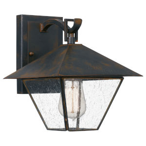 Corporal Industrial Bronze Nine-Inch One-Light Outdoor Wall Mount