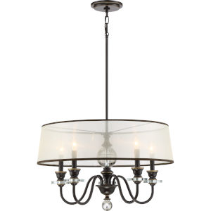 Ceremony Palladian Bronze 25-Inch Five-Light Pendant