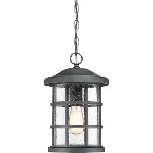 Crusade Earth Black 10-Inch One-Light Outdoor Hanging Lantern