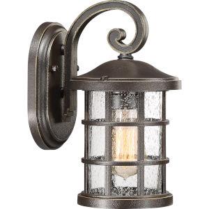 Crusade Palladian Bronze 6-Inch One-Light Outdoor Wall Lantern