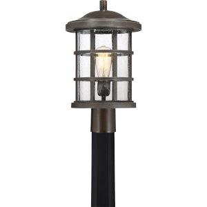 Crusade Palladian Bronze 10-Inch One-Light Outdoor Post Lantern