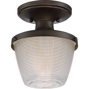 Dublin Palladian Bronze One-Light Semi Flush Mount