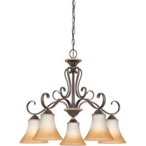 Duchess Palladian Bronze Five-Light Chandelier