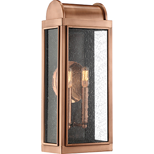 Danville Aged Copper Two-Light Outdoor Wall Sconce