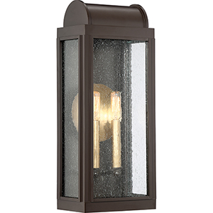 Danville Western Bronze Two-Light Outdoor Wall Sconce