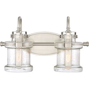 Danbury Brushed Nickel Two-Light Bath Vanity