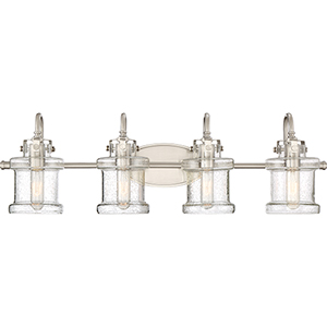 Danbury Brushed Nickel Four-Light Bath Vanity
