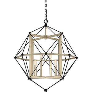 Division Earth Black Eight-Light Pendant