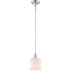 One-Light Polished Chrome Downtown Piccolo Pendant