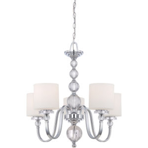 Five-Light Polished Chrome Downtown Chandelier