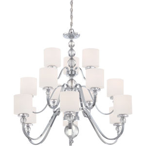 Downtown Polished Chrome 41.5-Inch 15-Light Chandelier