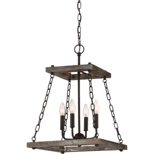 Dwelling Western Bronze 15-Inch Four-Light Pendant