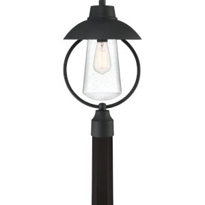 East Bay Mottled Black One-Light Outdoor Post Mount
